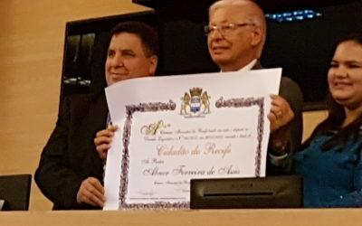 Câmara Municipal homenageia ACBV e seu fundador